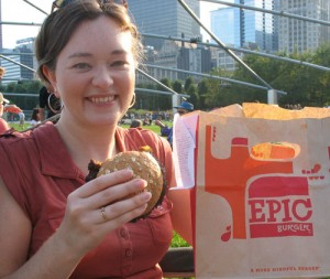 Amy approves of Epic Burger