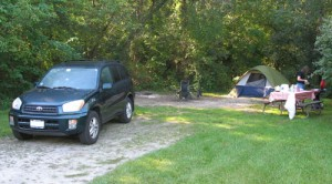 Our Campsite at Rock Cut State Park