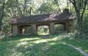 Abandoned shelter we discovered on a lost trail