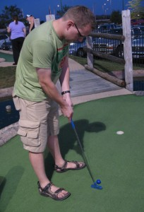 Steve finishes off a putt