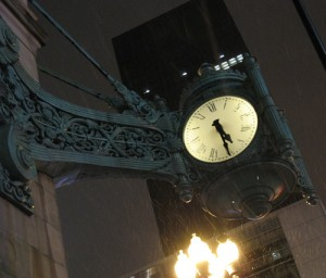 Clock at State and Randolph