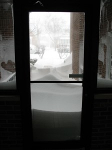 Snow as viewed from our atrium