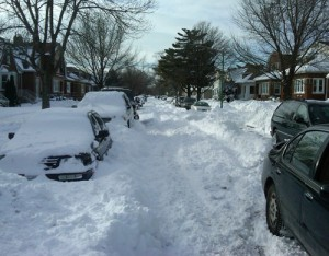 Our street after the storm