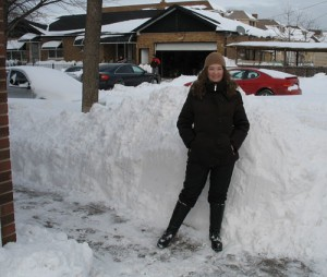Note Amy's height vs. the pile of snow
