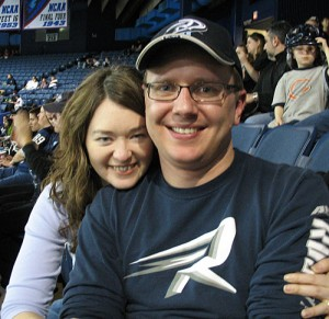Amy & Steve at the game