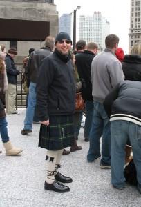 Our friend Bryan wore his kilt