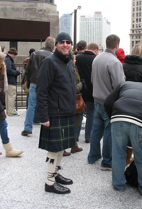 Our friend Bryan wore his kilt