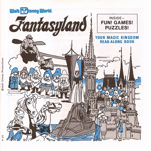 Walt Disney World Fantasyland View-Master Booklet Cover