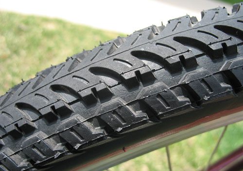Multi-terrain tread for city streets & unpaved trails