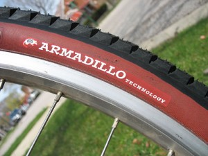 Armadillo is Specialized's Kevlar-reinforced brand