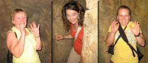 Mom, Amy, & Karen scared in Injun Joe's Cave