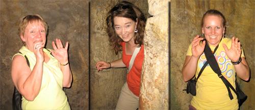 Mom, Amy, & Karen startled in Injun Joe's Cave