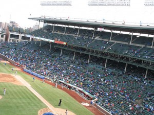 Quite empty at Wrigley