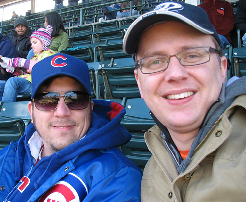 Tim & Steve at the game (and yes, that's a Chicago Rush hat I'm wearing)