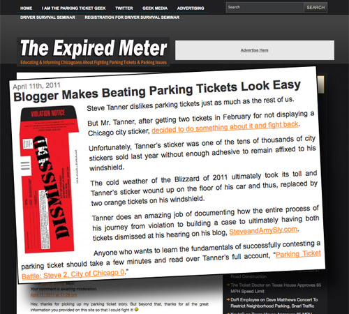 Blogger Makes Beating Parking Tickets Look Easy