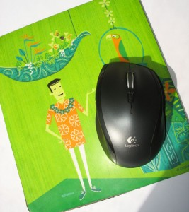 My new Logitech mouse, at home in the Tiki Room