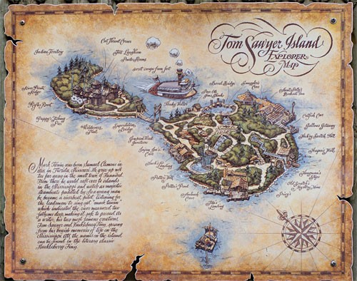 Click to View: Map of Tom Sawyer Island