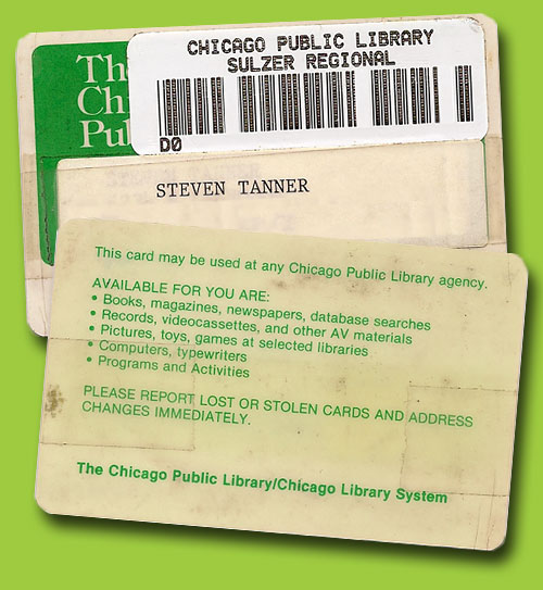 Steve's Old Chicago Public Library Card