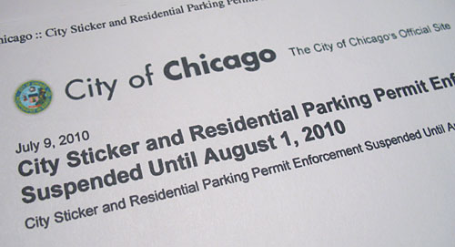 Chicago extended sticker deadline twice due to problem