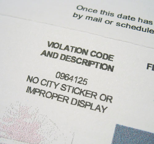 Official Violation Code