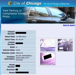 Ticket & Evidence Photos viewed online