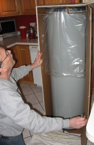 Unpacking the new water heater