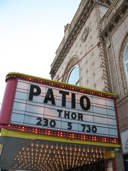 Marquee on the Patio Theater