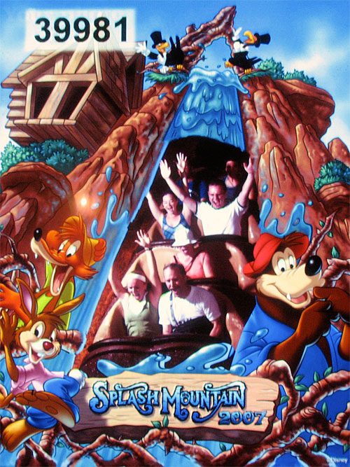 Splash Mountain On-Ride Photo (2007)