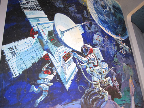 Communications Mural on Spaceship Earth (2009)