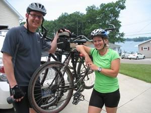 Steve & Karen get ready to ride!