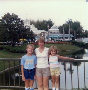 Steve, Mom, & Karen at the Crystal Palace (1985)