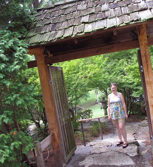Amy explores the Japanese Garden