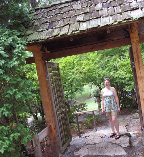 Amy explores the Japanese Garden