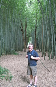 Steve finds a bamboo forest!