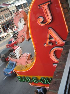 View of Flying Pigs Sign from Jack's 2nd Floor