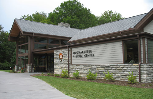 Brand new Oconaluftee Visitor Center