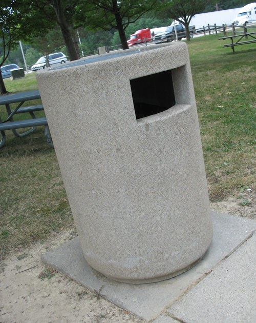Indiana Rest Area Trash Can