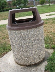 Kentucky Rest Area Trash Can