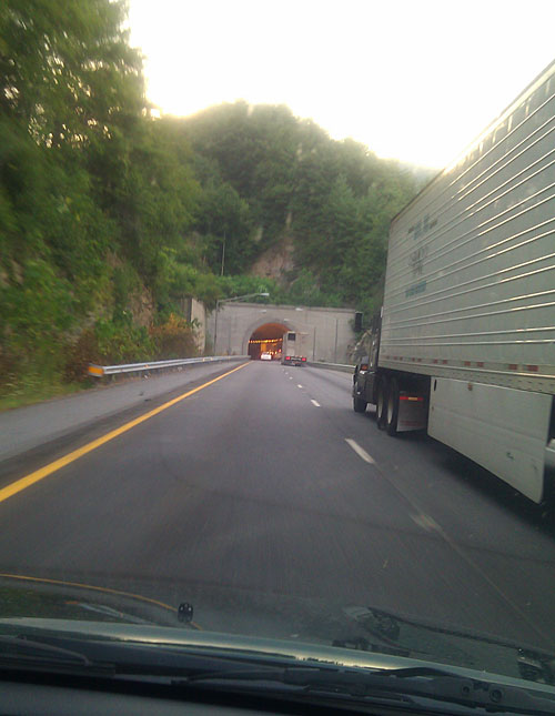 Winding through tunnels in North Carolina
