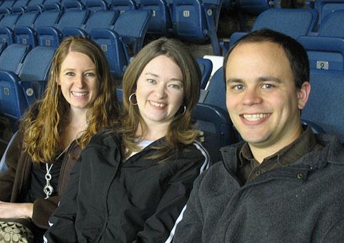 Megan, Amy, & Branden... and a lot of empty seats