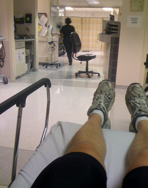 Steve spends quality time in the ER