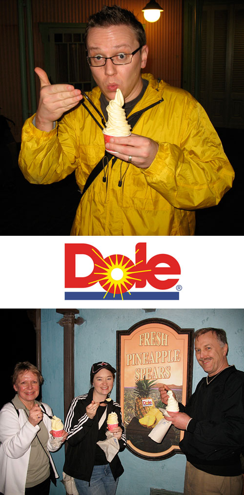 Dole Whipping: Steve (2011) and Nancy, Amy, & John (2009)