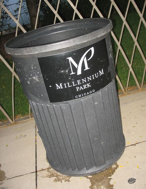 Millennium Park trash can