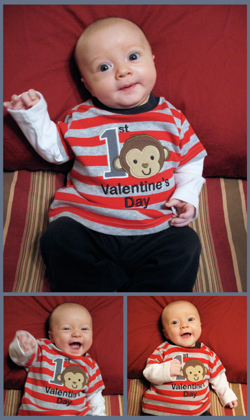 Wesley's 1st Valentine's Day