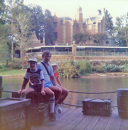 The Haunted Mansion from Tom Sawyer's Island (1985)