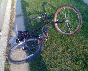 My Bike on the Ground