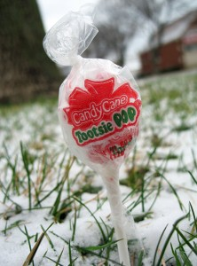 Candy Cane Tootsie Pop