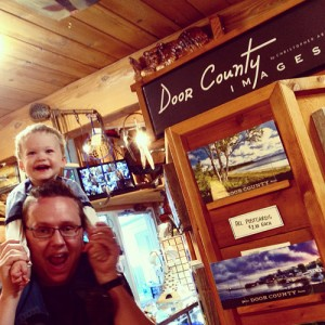 "Checking out the ""Door County Images"" display, featuring photo paintings by my friend Chris Arndt."