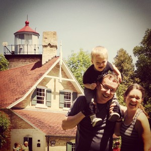 Hanging out at Eagle Bluff Lighthouse